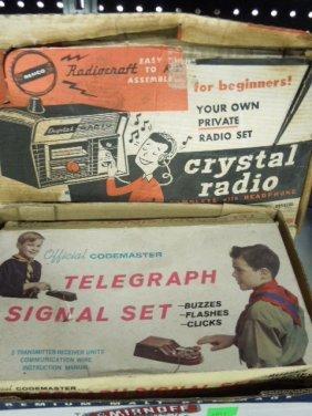 Vintage Telegraph And Radio Sets