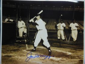 Signed Joe Dimaggio Photo