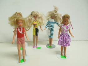 5 Vintage Skipper Dolls