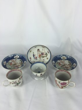 Six Pieces Of Chinese Export Porcelain Cups And Dishes