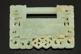 Chinese Nephirite Jade Lock Pendant