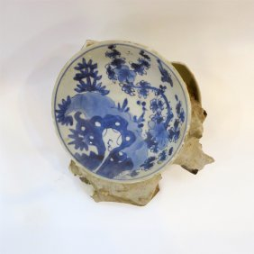 Chinese Export Porcelain Blue Ans White Dish