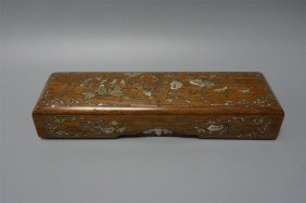 Chinese Huanghuli Mother Of Pearl Box