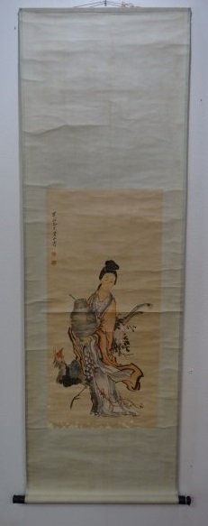 Chinese Scroll Painting - Maiden