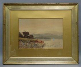 W.f. Dell - (english) - Watercolor On Paper