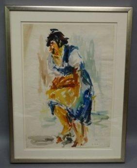Roland Ladwig - German (1935-2014) : Watercolor