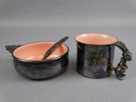 Reed & Barton Silver & Porcelain Child's Set