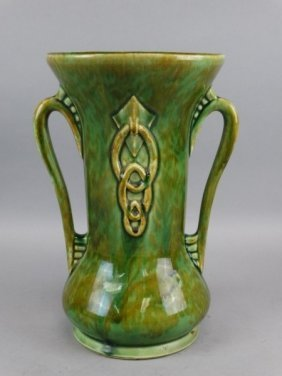 Large Green Pottery Vase