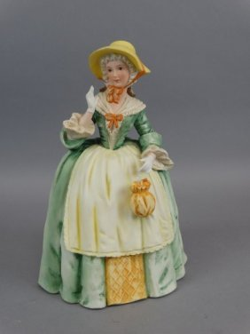 Porcelain Figurine Of Lady