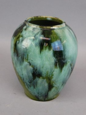 Green Mottle Glazed Vase