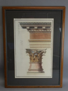 Print Of Architectural Element - T.s. Muller