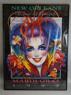 New Orleans Mardi Gras Poster - Band Of Angels