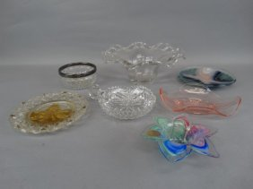 Lot Of 7 Various Glass Items