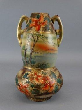 Antique Japanese Double Gourd Vase