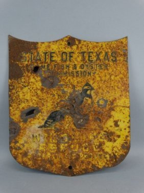 Antique Texas Steel Wildlife Refuge Sign