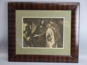 Vintage Framed Print Of Jesus