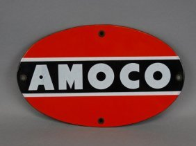 Vintage Amoco Porcelain Gas Sign