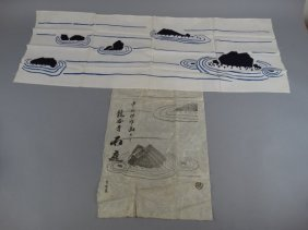 Japanese Woodblock Print On Textile