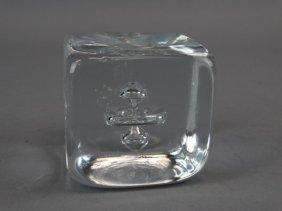 Simon Pearce Art Glass Paperweight