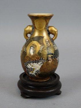 Early Japanese Satsuma Vase - 8 Immortals