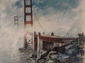 John Kelly - Watercolor : Golden Gate