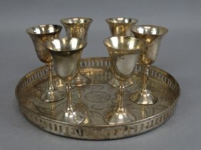 International Silver Silverplated Cordial Set