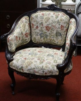 Victorian Parlor Chair On Casters
