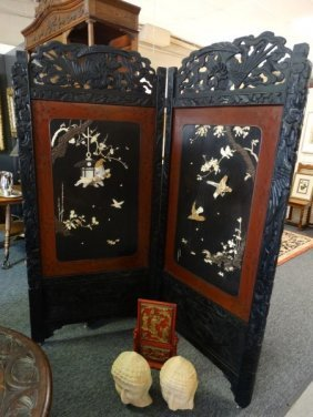 Japanese Two Panel Room Divider