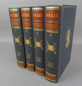 R.e. Lee Biography Set By Douglas Southall Freeman