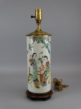 Chinese Republic Famille Rose Lamp