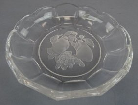 Val St. Lambert Crystal Fruit Bowl
