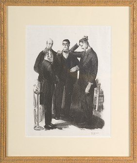 Four Friends By George Bellows, Lithograph�