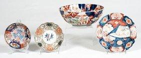 Japanese Imari Bowls And Plate�