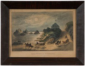 California Scenery Currier & Ives Print�