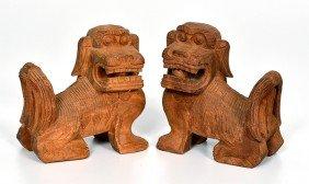 Folk Art Carved Whimsy Dogs�
