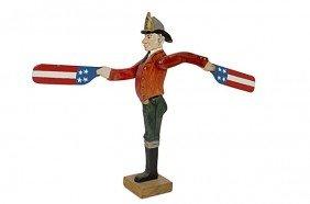 Folk Art Fireman Whirly-Gig�