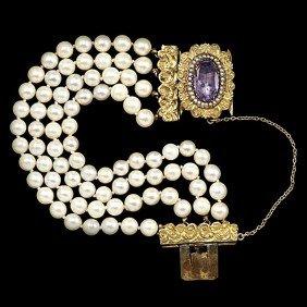 Vintage 1920's Cultured Pearl Bracelet�