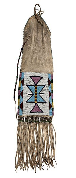 Nez Perce Beaded Hide Tobacco Bag�