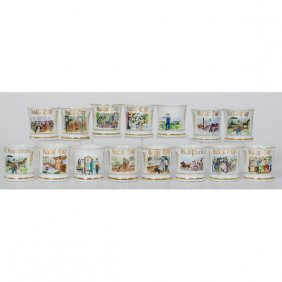 Group Of Reproduction Occupational Shaving Mugs�