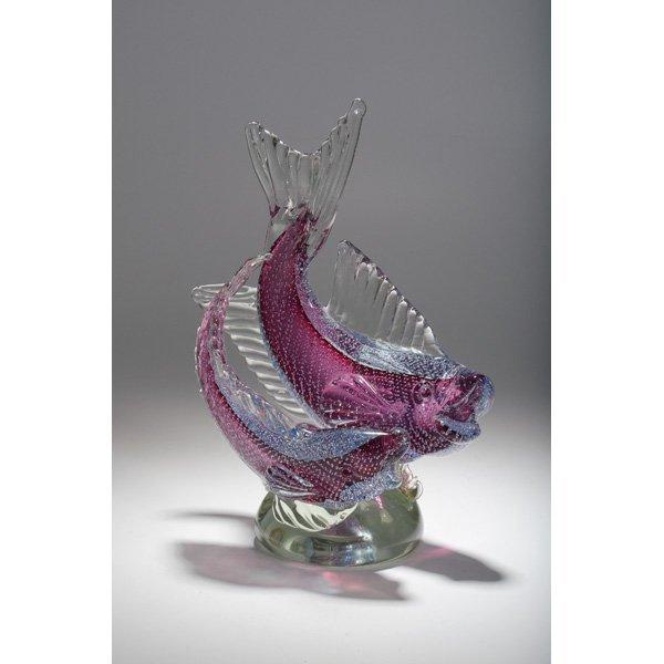 Murano glass bullicante fish centerpiece lot
