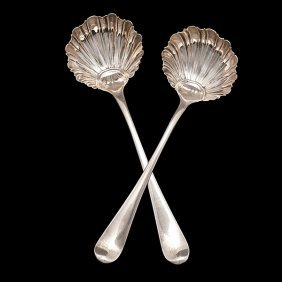 Pair Of George III Sterling Condiment Ladles�