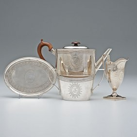 George III Sterling Tea Set�