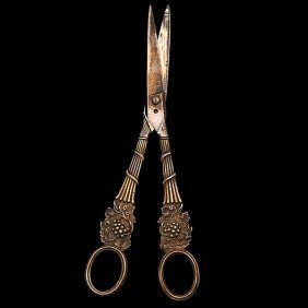 George III Sterling Grape Scissors�