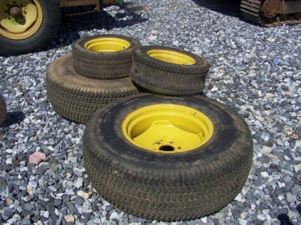 John Deere Turf Tractor Tires : Used turf tires wheels for john deere tractor