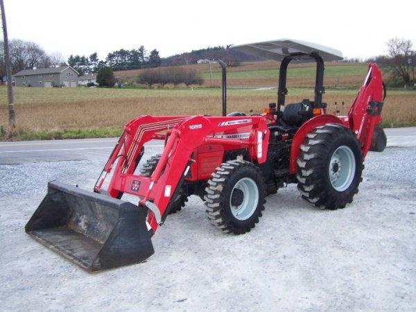 Massey Ferguson Tractor Loader Backhoe : Massey ferguson tractor with loader backhoe