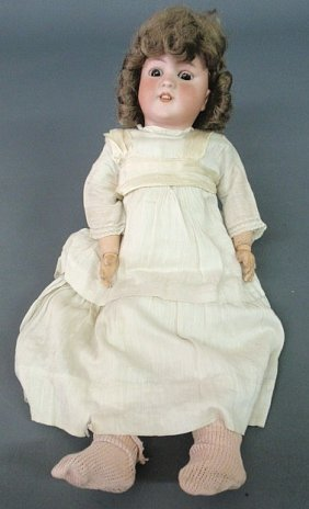 "Simon & Halbig Bisque Head Doll. 22""h."