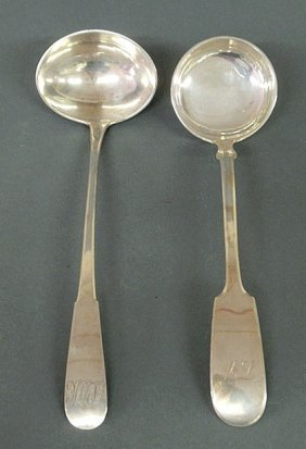 Two Silver Ladles- F. Schurmann & Co., NM 800 12.1