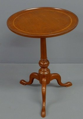Queen Anne Style Walnut Candlestand, C.1930, With