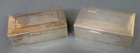 Two Sterling Silver Cigarette Boxes, One Monogramm