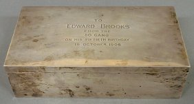 "Sterling Silver Presentation Box ""To Edward Brooks"